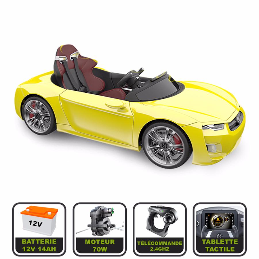 Voiture électrique de luxe 12V pour enfant HENES BROON F830 tablette  tactile, télécommande Bluetooth b284e803a6ac