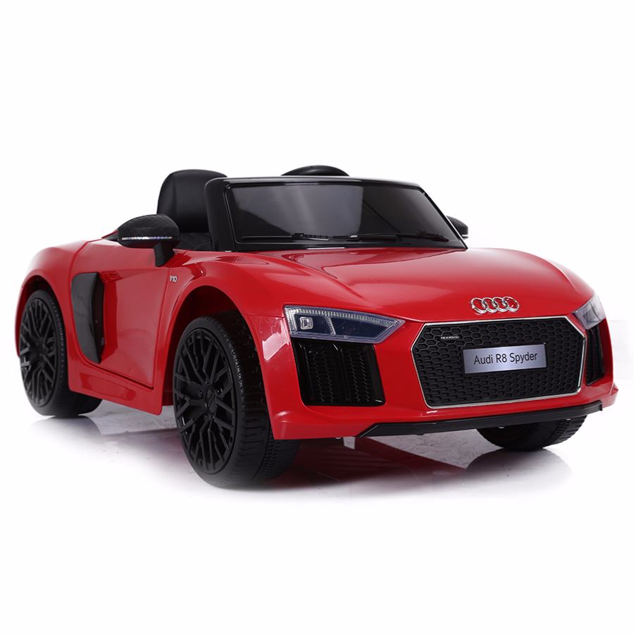 voiture de sport lectrique 12v pour enfant audi r8 spyder cristom blanc. Black Bedroom Furniture Sets. Home Design Ideas
