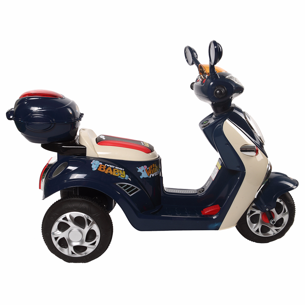 scooter lectrique pour enfant cristom 6v look vintage style vespa connexion mp3. Black Bedroom Furniture Sets. Home Design Ideas