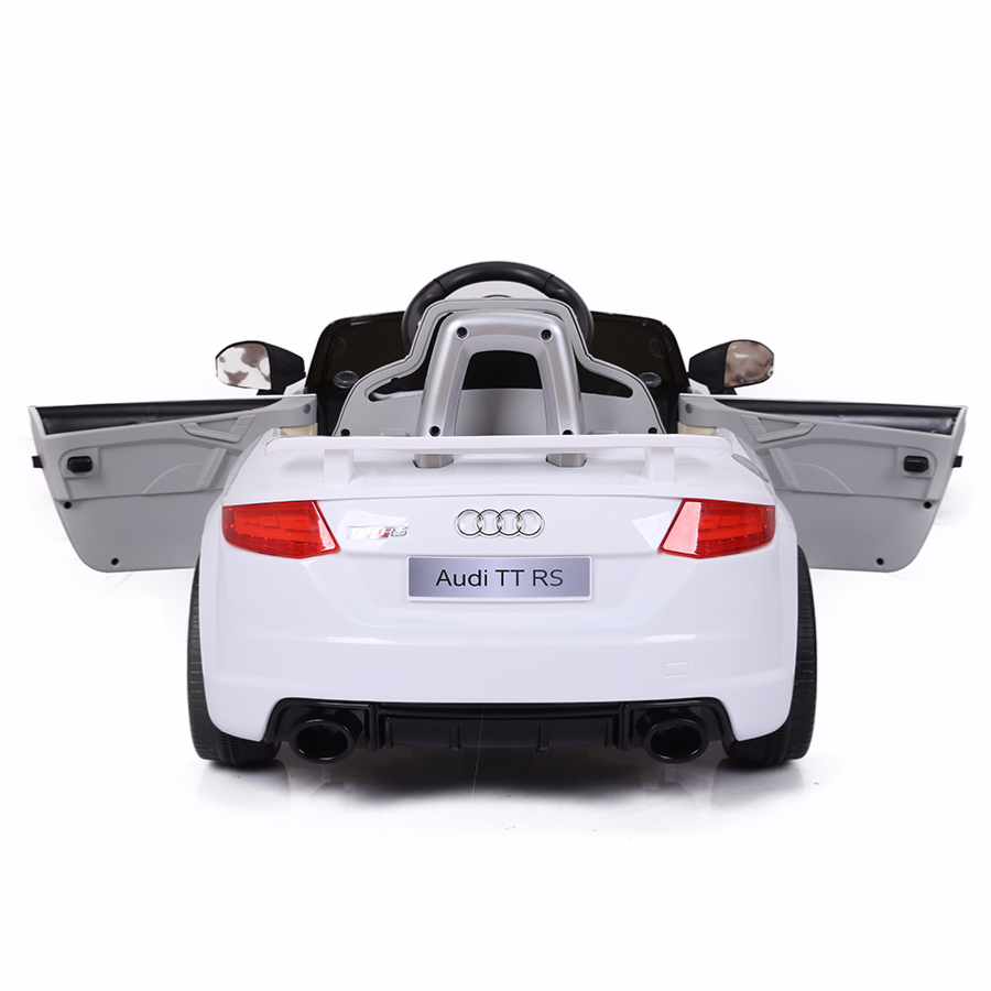 voiture de sport lectrique 12v pour enfant audi tt rs cristom blanc. Black Bedroom Furniture Sets. Home Design Ideas