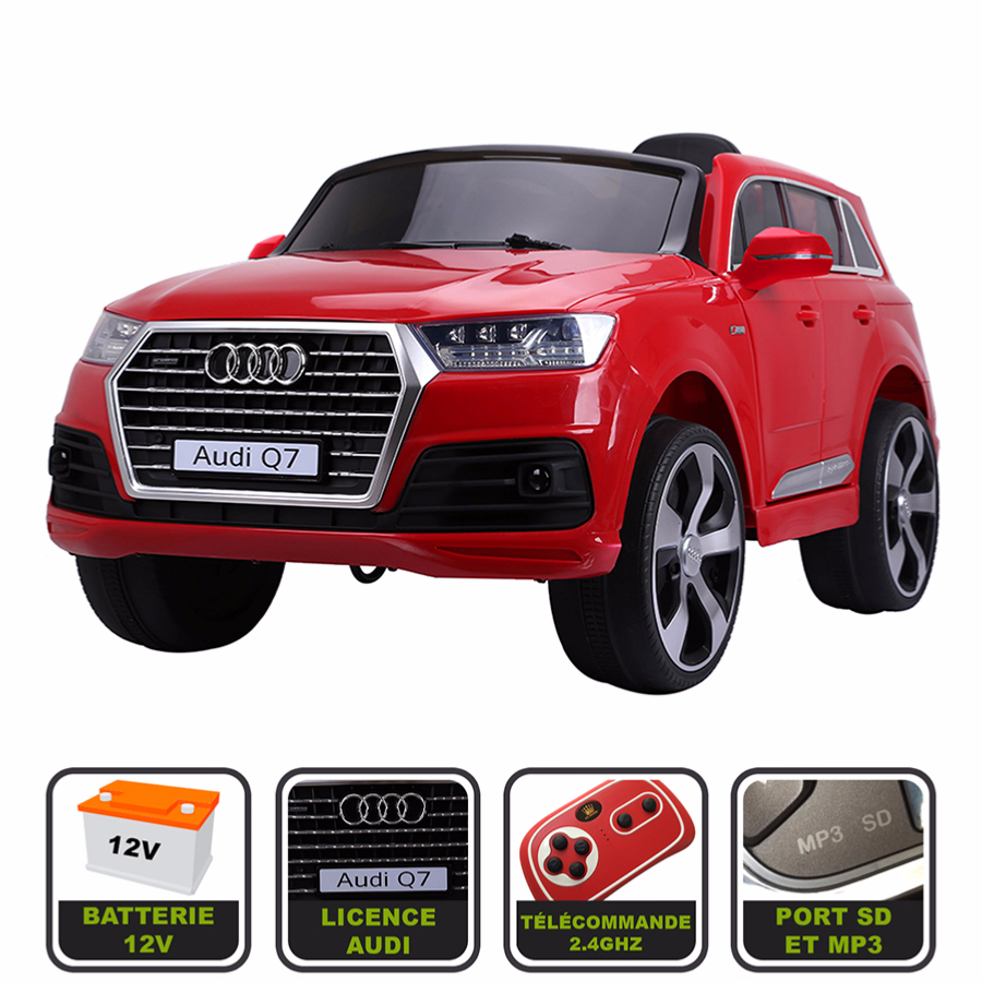 4x4 lectrique 12v pour enfant audi q7 version luxe. Black Bedroom Furniture Sets. Home Design Ideas