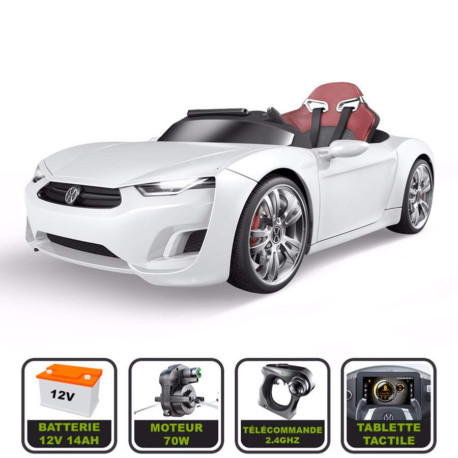 voiture lectrique de luxe 12v pour enfant henes broon t830 tablette tactile t l commande bluetooth. Black Bedroom Furniture Sets. Home Design Ideas