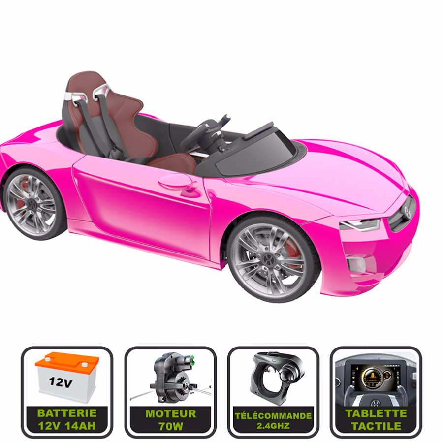 voiture lectrique 12v avec t l commande bmw rose. Black Bedroom Furniture Sets. Home Design Ideas