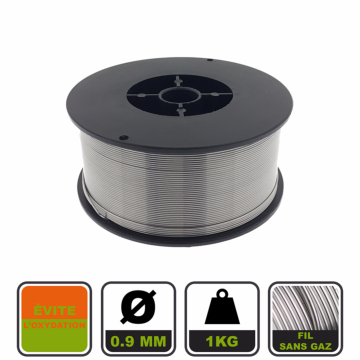 fil fourr no gaz pour soudage mig 100 mm acier 0 9 mm 1 kg. Black Bedroom Furniture Sets. Home Design Ideas