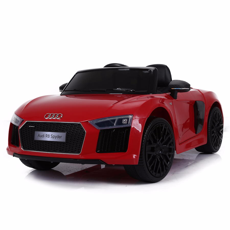 voiture de sport lectrique 12v pour enfant audi r8 spyder. Black Bedroom Furniture Sets. Home Design Ideas