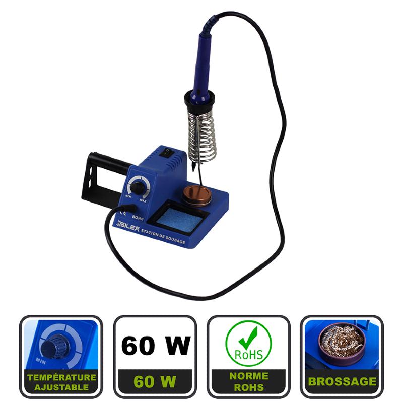 5b2257c8e38997 Station fer à souder électrique 60W Silex®