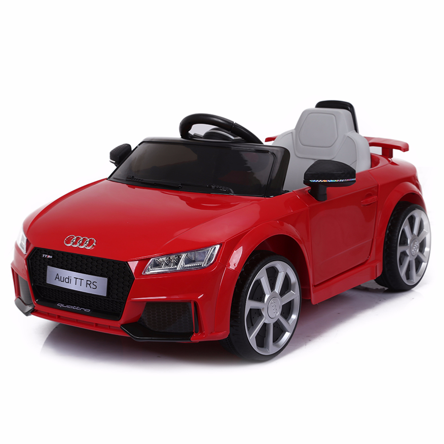 voiture de sport lectrique 12v pour enfant audi tt rs cristom rouge. Black Bedroom Furniture Sets. Home Design Ideas
