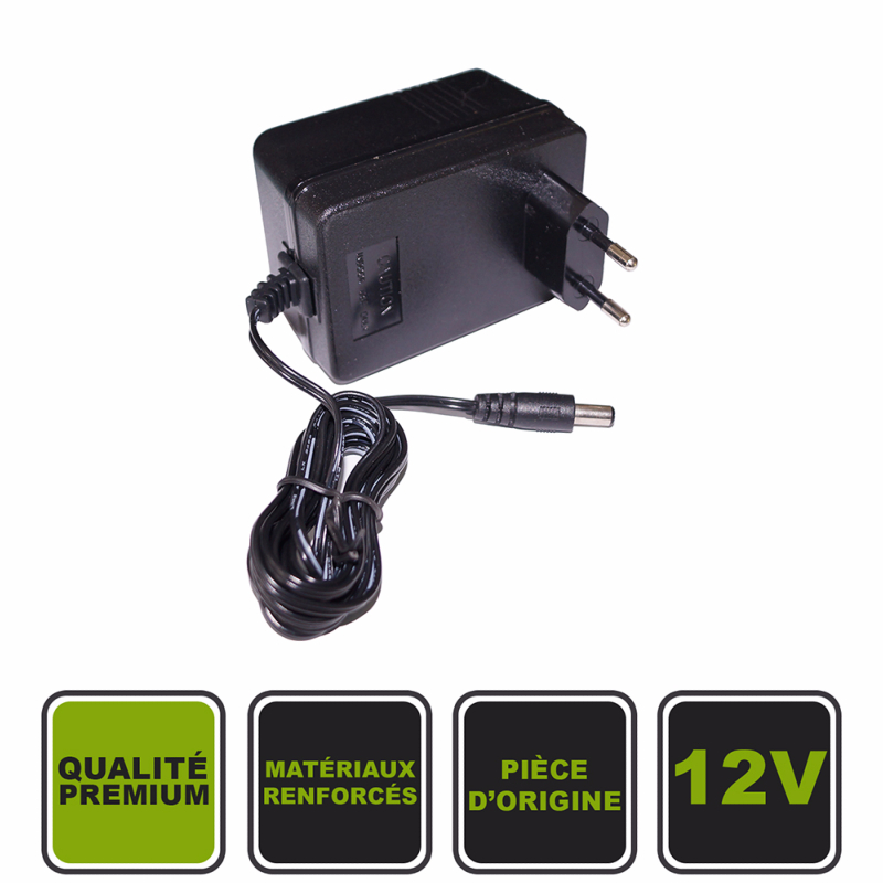 chargeur 12v cristom pour voiture lectrique. Black Bedroom Furniture Sets. Home Design Ideas