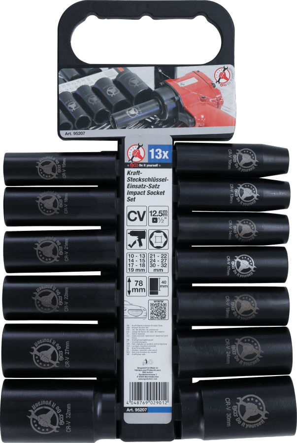 r/ésistant /à la corrosion antirouille mat/ériau CR-V soket set 10 mm-32 mm Fuhao douille a choc,douille cle a choc 1//2 pouce 13 pi/èces