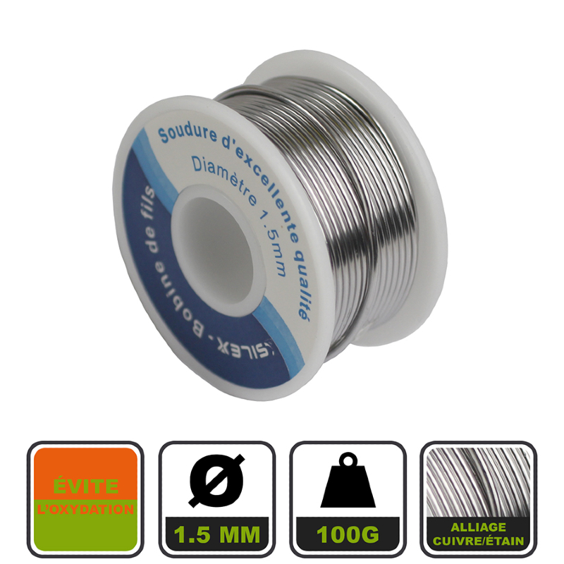 474a67c17cd76d Station fer à souder électrique 60W + 1 bobine de fil d étain Silex®